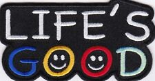 LIFE'S GOOD - IRON or SEW-ON PATCH