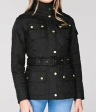 Black Ladies Barbour Quilted Jacket Size 8