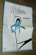 Original Fold Out Catalog C1990 Mdvanii Fashion Dolls Billy Boy Poster!