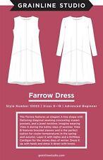 Farrow Dress Sewing Pattern by Grainline Studio Sizes 0 - 18 Advanced Beginner