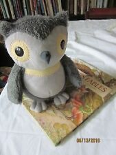 Kohls Cares Aesops Fables plush owl stuffed animal 11 inches gray & book