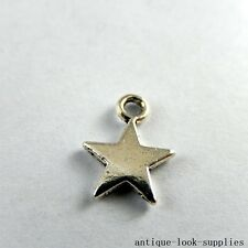 Vintage Silver Alloy Mini Five-pointed Star Pendants Charms Findings 100x 50936