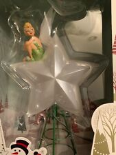 Disney Store Christmas Tree Topper Light Up Tinkerbell Tinker Bell Star SOLD OUT