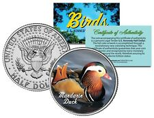 MANDARIN DUCK Bird Collection Official JFK Kennedy Half Dollar U.S. Coin w/ COA
