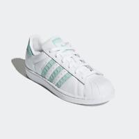 0d6f7675b46 New Adidas Original Womens SUPERSTAR CG5461 WHITE   AQUA US W 5.5 - 8.0  TAKSE