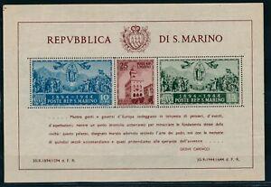 San Marino 1945 mini sheet SG MS308a MNH