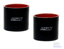 """2X HPS 4-ply Reinforced 1"""" (25mm) Silicone Coupler Hose 4"""" Long Tube Pipe Black"""