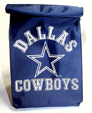 Vintage NFL Dallas Cowboy Football Team Blue White Lunch Bag Spell Out Star Logo
