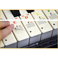 Piano & Keyboard Stickers for 37/54/61/88 Keys Transparent Learning Note
