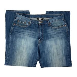 Lucky Brand Womens Straight Leg Medium Wash Blue Denim Jeans Size 38