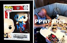 Wwe Kurt Angle Hand Signed Autographed #55 Funko Pop Toy With Proof And Coa