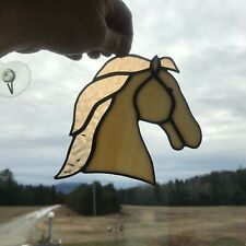 Horse Profile in Stained Glass