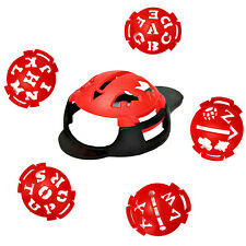 MARK YOUR GOLF BALL STENCIL MONOGRAMMER TEMPLATE STRAIGHT LINE MARKER PEN 1C