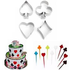 Poker Alice in Wonderland Style Cookie Cutters Cake Decorating Biscuit Mould N7