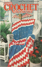 ANNIE'S CROCHET NEWSLETTER July August 1990 No 46  picture shows contents