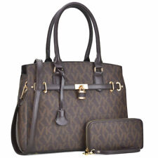 Vera Klaire Women Faux Leather Handbag Satchel Shoulder Bags w/ Wallet Purse