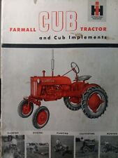 International Ih Farmall Cub Tractor Ag Farm Color Sales Brochure Catalog Manual