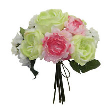 Cabbage Roses & Hydrangeas Bouquets ~ MANY COLORS ~ Bridal Silk Wedding Flowers