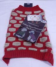 Turtle Neck Dog Sweater Size M Pet Life Fashion Heavy Knit Designer Ribbed T1