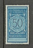 San Marino  Revenue Fiscal stamp- 3-2-  mnh gum Italy