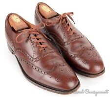 BROOKS BROTHERS Brown Solid Leather Mens Wingtip Dress Shoes - EU 43 D / US 10