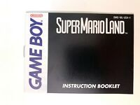 Super Mario Land (Nintendo Game Boy, 1989) Instruction Manual Booklet Only