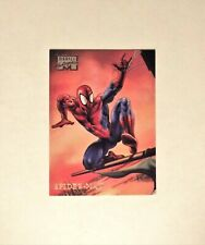 a 1996 Marvel Masterpieces card #45, for Spider-Man, art by Boris Vallejo