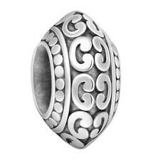 Lovelinks Bead Sterling Silver, V Edge Reticulated designs Charm Jewelry TT572