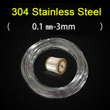 1 Meter 304 Stainless Steel Bright Wire Single Wire Soft / Hard Rope 0.1mm-3mm