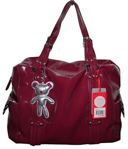 Il Tutto Nico Berry Patent PVC Baby Change Bag + Accessories NWT SP £149