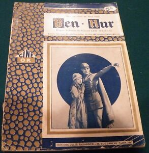 Ben Hur (1925)  Movie Cine Or French Photoplay 66 pages circa 1925.