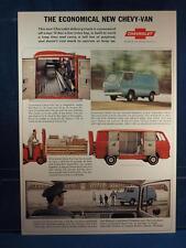 Vintage Magazine Ad Print Design Advertising Chevrolet Van