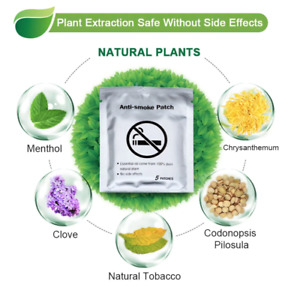 Anti Smoke Patch Quit or Stop Smoking Natural Ingredients Patch, AMAZING RESULTS