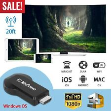 HD 1080P Wireless WiFi Display Dongle Receiver TV HDMI AV DLNA Airplay Miracast