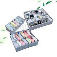 3Pcs Drawer Divider Closet Underwear Socks Organizer Container Storage Box Case