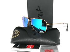 Ray Ban Sunglasses 3543 112/A1 Blue Mirror Gold Polarized Rayban