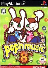 Used PS2 Konami Pop'n Music 8  SONY PLAYSTATION 2 JAPAN IMPORT