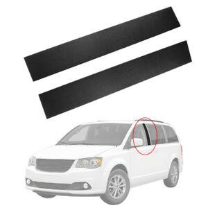 For Dodge Grand Caravan Pair Black Front B Pillar Post Moulding Cover Trim Caps