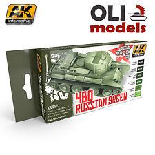 Russian Green 4BO Special Modulation Acrylic Paint Set - AK Interactive 553