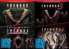 TREMORS Teil 1 2 3 4 Im Land der Raketenwürmer  DVD Sammlung Collection BOX NEU