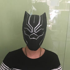 2016 Adult Captain America 3 Mask Black Panther Helmet Latex Cosplay Props Mask