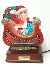 Em Merck Old World Christmas Painted Glass Lamp Santa In Sleigh 1995.