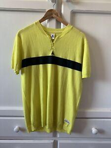 Le Coq Sportif Tour De France Yellow Jersey, 100% Wool. Size L. Never Worn.