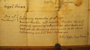 Goffstown Shows Rare John Goffe Original Signature on 1735 Londonderry Deed