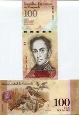 Venezuela P93 2013 100 Bolivares UNC Banknote Money - Sequential Numbered Notes