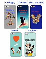 Mickey Mouse Inspired phone case Disney quote laughter dreams for iphone htc