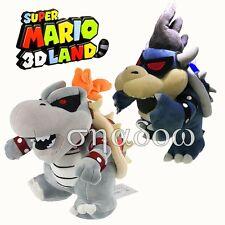 Super Mario Bros. Dark Bowser & Dry Bowser Bones Koopa Stuffed Plush Soft Toy