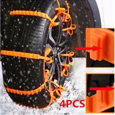 4pcs Car Vehicle Truck Off-Road SUV Safe Snow Tire Wheel Chain Anti-skid Belt