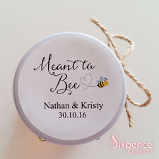 Meant to Bee Honey Favor Sticker Labels Mason Jar Personalised Wedding x 48
