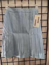 pettie woman pleated genuine leather skirt size 4